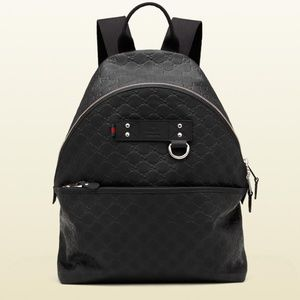 Gucci GG Monogram Leather Backpack